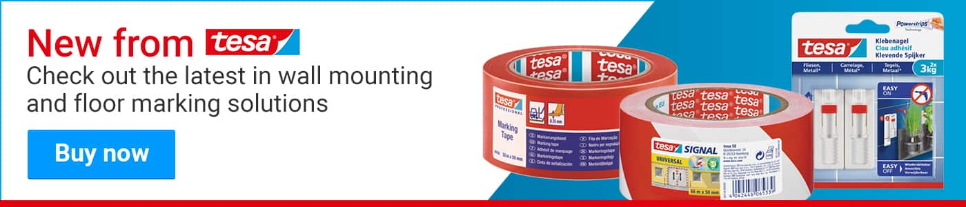 New from Tesa! Check out the latest in wall mounting and floor marking solutions